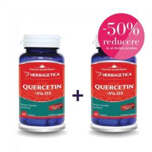 QUERCETIN + VITAMINA D3 60 + 60 cps Herbagetica