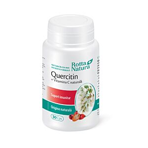 Quercitin + Vitamina C naturală 30cps Rotta Natura