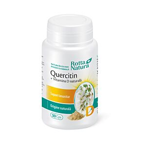 Quercitin + Vitamina D naturală 30cps Rotta Natura