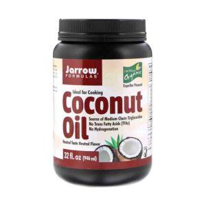 Ulei de Cocos Organic Coconut Oil, Jarrow Formulas, 946ml Secom