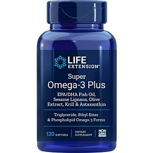 Super Omega-3 Plus, EPA 750 mg, DHA 510 mg 120cps Life Extension