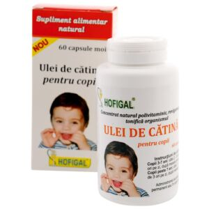 Ulei de catina pentru copii - 60 capsule moi Hofigal