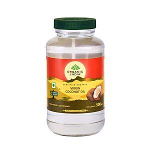 Ulei (Extra)Virgin de Cocos Premium 500ml | Nerafinat, 100% Certificat Organic, Extras la Rece si Unic Centrifugat Organic India