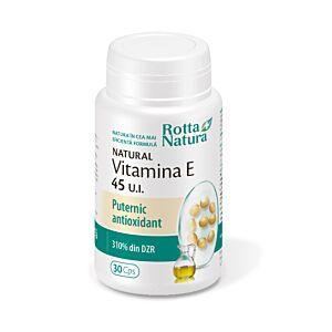 Vitamina E naturala 45 U.I 30cps Rotta Natura