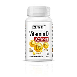 Vitamin D & Cofactors 30cps Zenyth