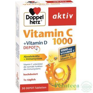 Vitamina C 1000 + Vitamina D Depot, 30 comprimate Doppelherz