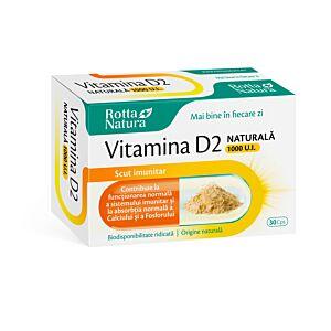 Vitamina D2 naturala 1000 U.I 30cps Rtta Natura