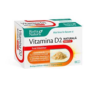 Vitamina D2 naturala 2000 U.I 30cps Rotta Natura
