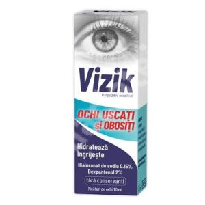 Picaturi pentru ochi uscati si obositi Vizik, 10 ml, Zdrovit