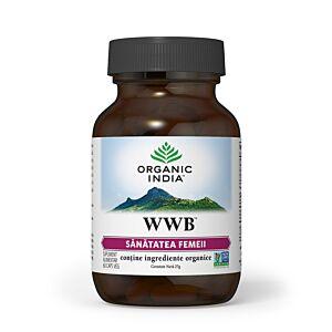 WWB | Sanatatea Femeii, Sindrom Premenstrual, 60 capsule vegetale Organic India