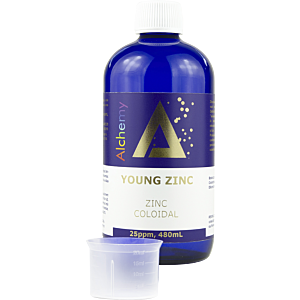 Zinc coloidal Young Zinc 25ppm 480mL - Pure Alchemy
