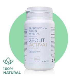 Zeolit Activat 100% pur, 90 capsule Transylvania Green
