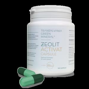Zeolit Activat 100% pur, 180 capsule Transylvania Green
