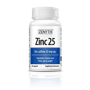 Zinc 25,25mg,30 capsule-Zenyth